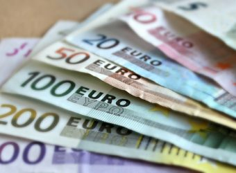 dinero, billete, moneda, euro