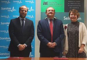 Sanitas Mayores y la Agencia de Empleo de Madrid firman acuerdo de colaboración