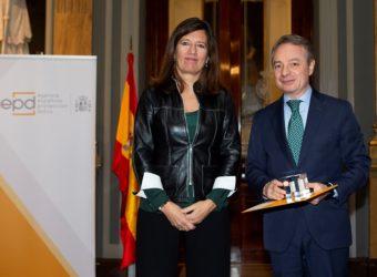 madrileña Mar España, directora de la AEPD, y Lorenzo Cooklin, director general FMM