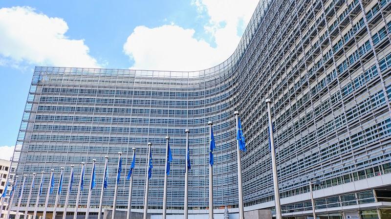 Berlaymont European Commision building at daylight