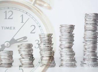 dinero inversión ahorro tiempo reloj