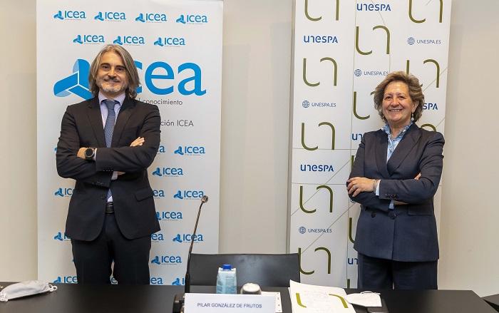José Antonio Sánchez, director general de ICEA - Pilar Gonzalez de Frutos, presidenta de UNESPA - 01