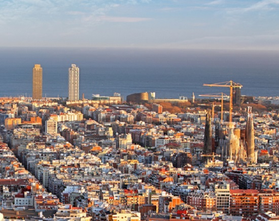 Panoramic,View,Of,Barcelona,,Spain