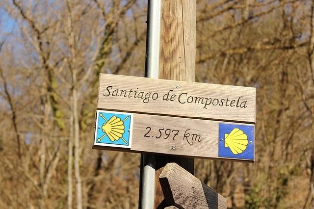 Santiago compostela galicia peregrino apostol