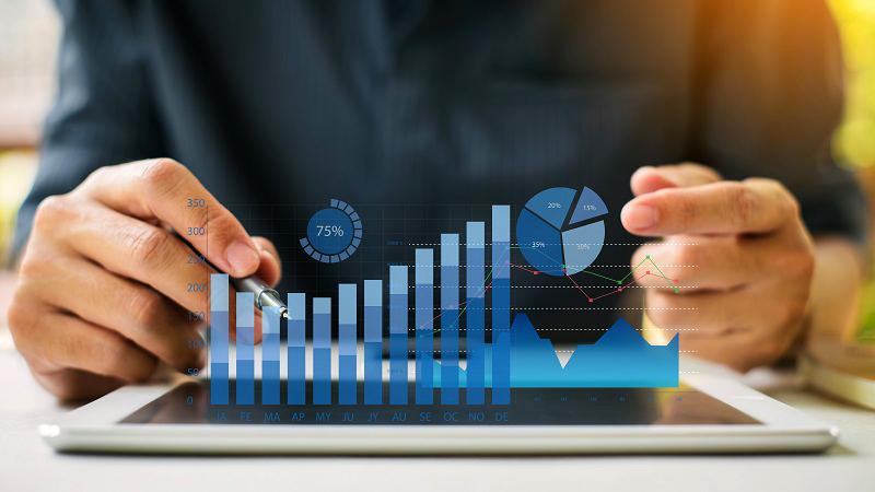 estadística porcentaje cifras números crecimiento evolución