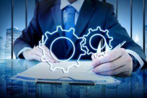 Business Achievement Progress Develpoment Cogwheel Concept